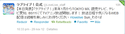 Love Live en enero 2013